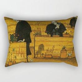 THE GARDEN OF DEATH - HUGO SIMBERG Rectangular Pillow