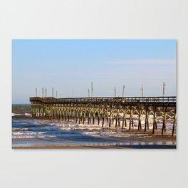 Seaside Fishing Pier Canvas Print