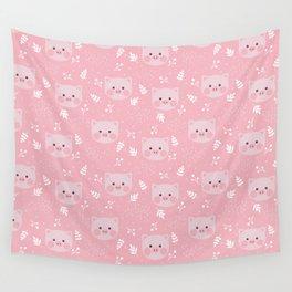 Pig Pattern   Pink Piglet Farm Farmer Wall Tapestry