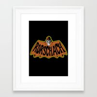 rorschach Framed Art Prints featuring Rorschach by Buby87