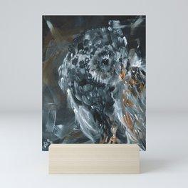 Midnight Owl Mini Art Print