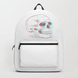 Anaglyph skull Backpack