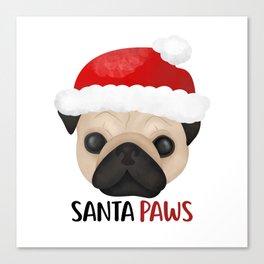 Christmas Pug | Santa Paws Canvas Print