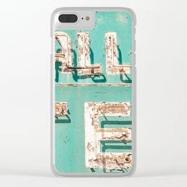 Valley Tel Clear iPhone Case