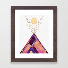 Tipi Mountain Framed Art Print