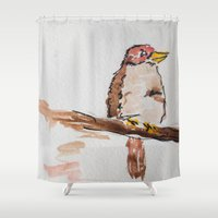 sparrow Shower Curtains featuring Sparrow by Bryan McKinney