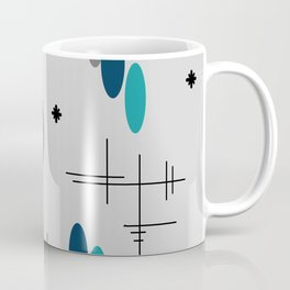 Ovals and Starbursts Teal Coffee Mug