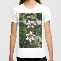 lily T-shirts featuring Lily by Vanessa Antonina