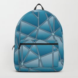 'Quilted' Geometric in blue Backpack