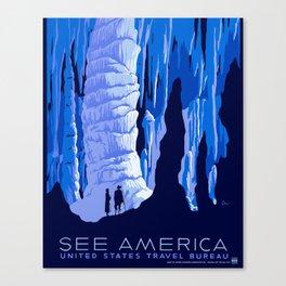 See America - Vintage 1930's US Travel Advertisement  Canvas Print