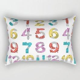movin number Rectangular Pillow