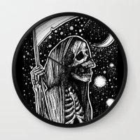 tarot Wall Clocks featuring Death Tarot by Corinne Elyse
