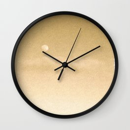 Gold 4 Wall Clock