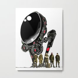 Machines and Humans. Metal Print