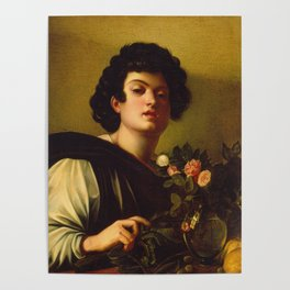 Caravaggio - Boy With A Carafe Of Roses Poster