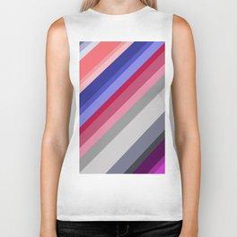 grey blue pink purple stripes Biker Tank