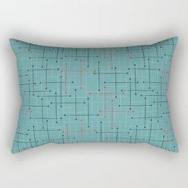 Swizzle Stix on Blue Rectangular Pillow