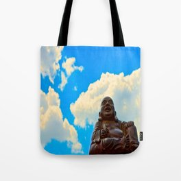 Happy Buddha on a Beautiful Day Tote Bag