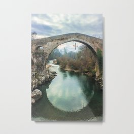 The hump-backed Roman Bridge Metal Print