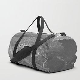 fisser yoke alps panorama serfaus fiss ladis tyrol austria europe black white Duffle Bag