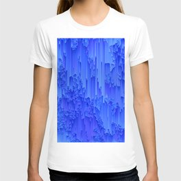 Melted, blue T-shirt