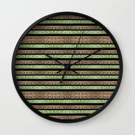 Camo Stripes Print Wall Clock