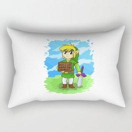 Will cut grass for rupees Rectangular Pillow