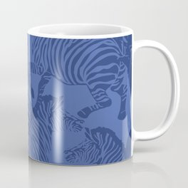 Zebra Stampede in Classic Blue Coffee Mug