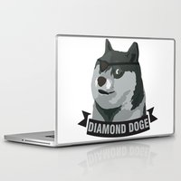 doge Laptop & iPad Skins featuring DIAMOND DOGE by MDRMDRMDR