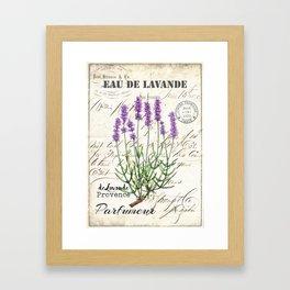 Lavender Antique Rustic Flowers Vintage Art Framed Art Print