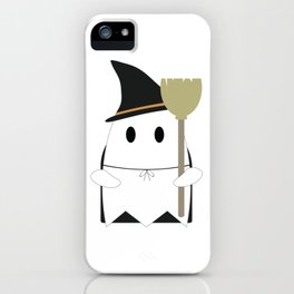 Ghost in Witch Costume iPhone Case