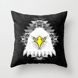 Geometric Eagle Throw Pillow