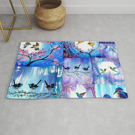 Purples and Blues Rug