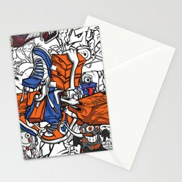 Pager Collage 2 Royal Stain Stationery Cards