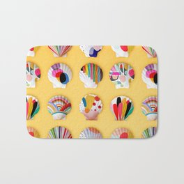 Rainbow Print Shells Bath Mat