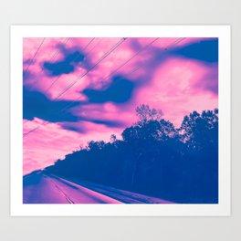 Cotton Cand Lovers' Lane Art Print