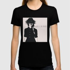 WHERE IS MY MIND? MEDIUM Womens Fitted Tee Black