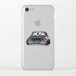 Crazy Car Art 0157 Clear iPhone Case