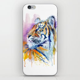 Young Tiger Watercolor Portrait iPhone Skin