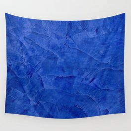 Dark Blue Ombre Burnished Stucco - Faux Finishes - Venetian Plaster Wall Tapestry