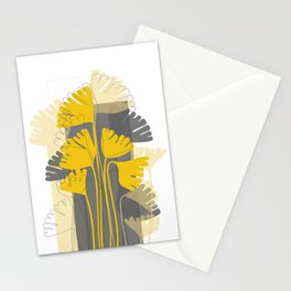 Yellow Ginkgo Biloba Leaves Stationery Cards