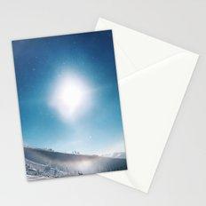 Ice Crystals Reflecting a Sundog Stationery Cards