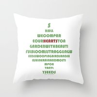 poem Throw Pillows featuring Poem by ZenzPhotography