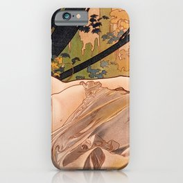 Alfons Mucha - Dawn - Digital Remastered Edition iPhone Case