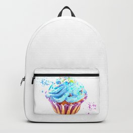 Cupcake watercolor illustration Backpack