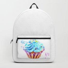 Cupcake watercolor illustration Backpack