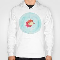 ponyo Hoodies featuring Ponyo Watercolor by foreverwars