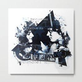 Patti Smith and Robert Mapplethorpe Metal Print