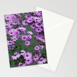 Lilac & Sage Color Purple Flowers Garden Stationery Cards