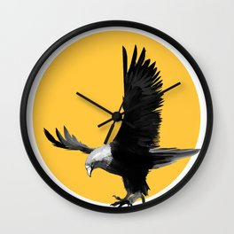 eagle with yellow Wall Clock